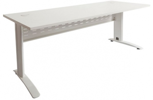 Modena Desk, Shell White Top, White Under Frame