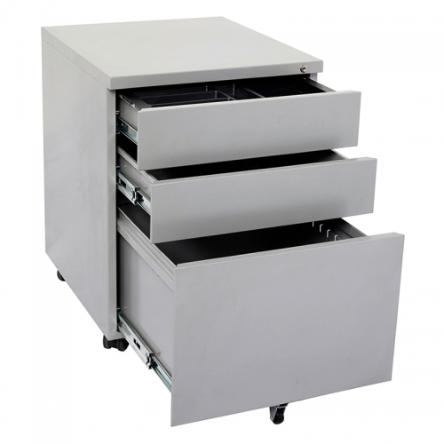 Alessi Heavy Duty Metal Mobile Drawer Unit, Silver