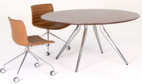 Argento 4 Star Round Meeting Table