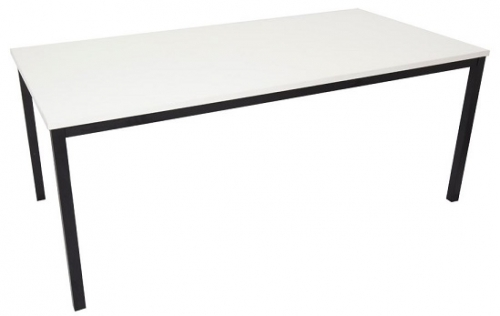 Basso Steel Framed Utility Table, White Table Top