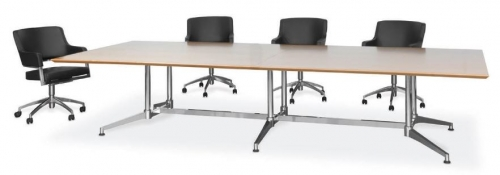 Candia Multi-leg Meeting Table, Chrome Frame Image 3