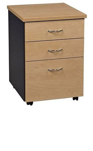Carletti Mobile Drawer Unit - 2 Personal + 1 File Drawer