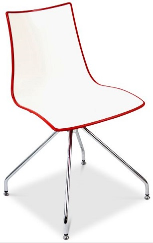 Kicca Chair with Spider Frame - Red-White