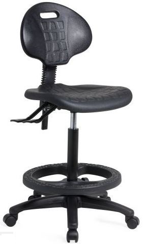 Industrial Drafting Chair with Polyurethane Foot Ring