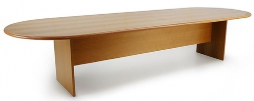 Puccini Timber Veneer 'D End' Meeting Table