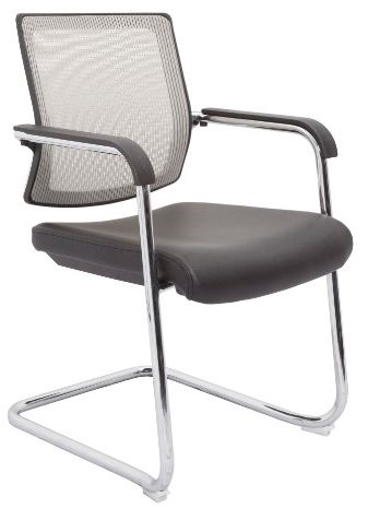 Ricci Visitor Chair - Silver Mesh Back
