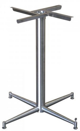 Abella Table Base - Stainless Steel