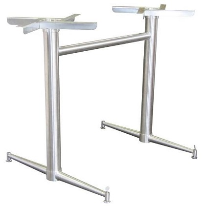 Abella Twin Table Base - Stainless Steel