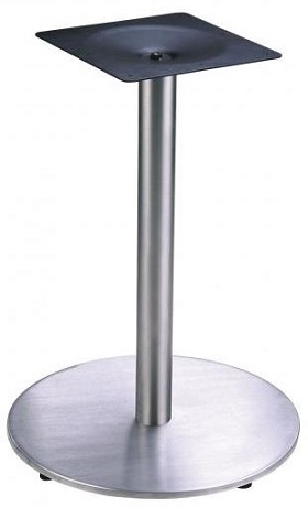 Aris Table Base - Stainless Steel