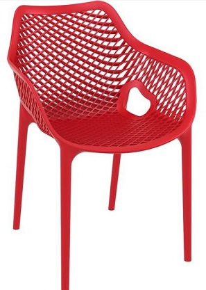 Flow Chair with Arms Red
