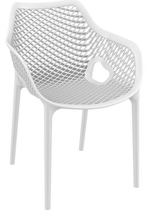 Flow Chair with Arms White