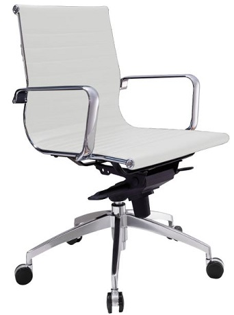 Gabi Medium Back Chair - White