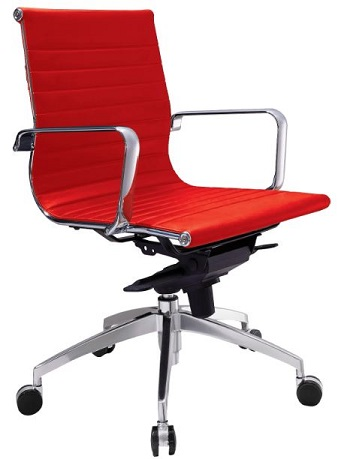 Gabi Medium Back Chair - Red