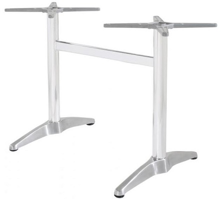 Hamiltion Twin Table Base - Polished Alloy