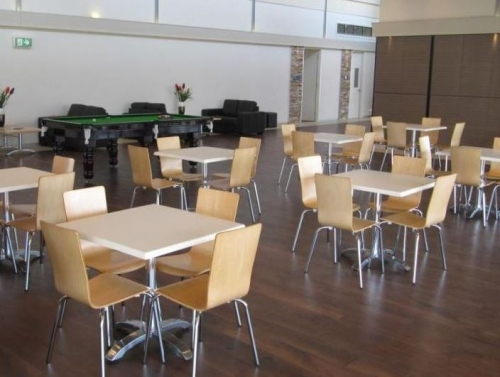 Image of Nikki Chairs in Beech with Lilla Table Bases