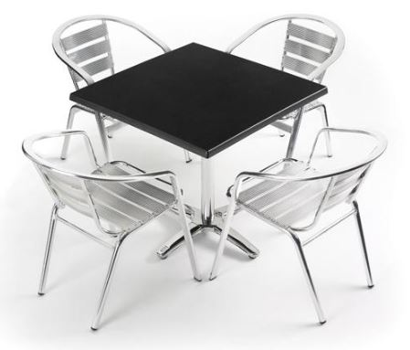 Image of Parma Chairs with Villa Table Base
