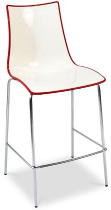 Kicca Stool - Red-White