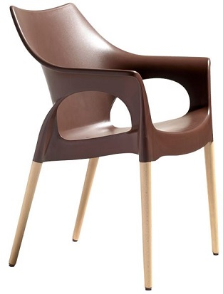 Mila Chair - Chocolate with Beech Timber Legs