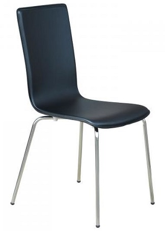 Nikki Chair - Black Man-Made Leather