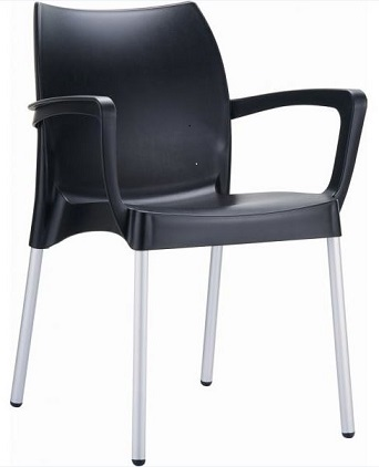 Raneri Chair with Arms - Black