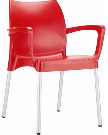 Raneri Chair with Arms - Red