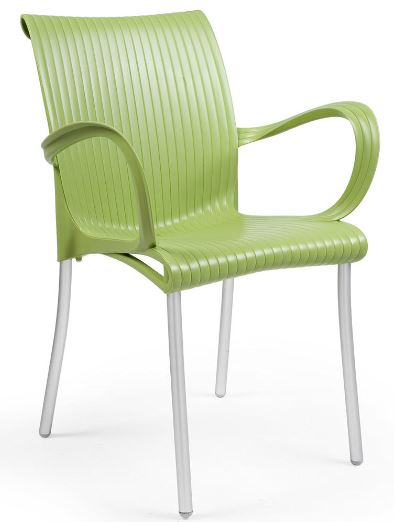 Sessa Chair with Arms - Green