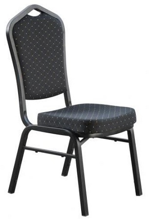 Sienna Function Room Chair - Black Fabric