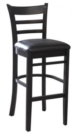 Emilia Timber Bar Stool with Padded Seat