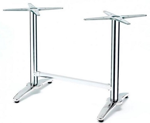 Villa Twin Table Base - Chrome
