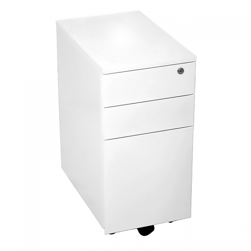Alessi Heavy Duty Narrow Metal Mobile Drawer Unit