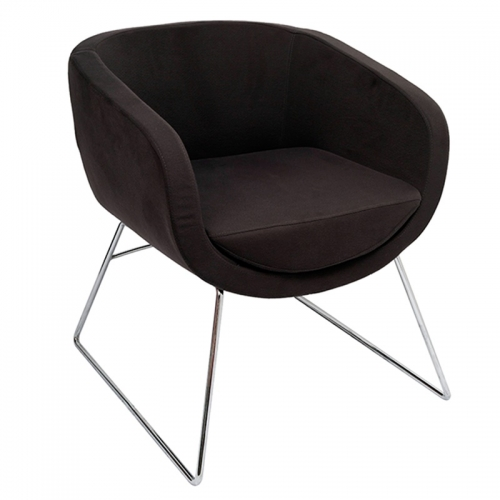 Aimee Chair, Charcoal Fabric