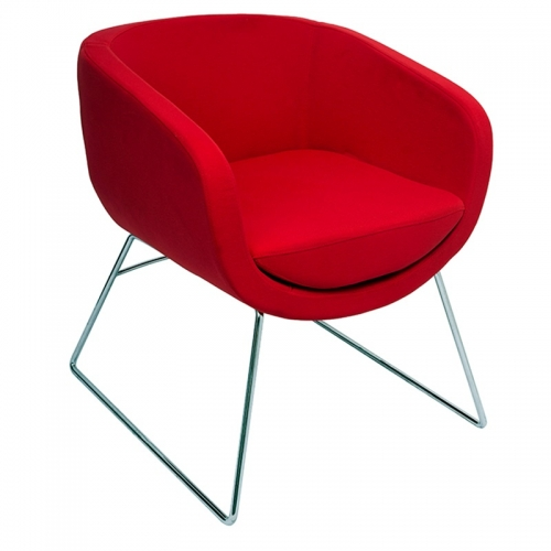 Aimee Chair, Red Fabric