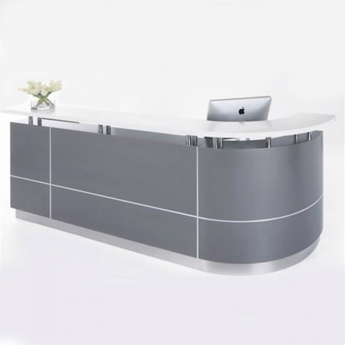Roxy Reception Desk, Left Hand Curved Return
