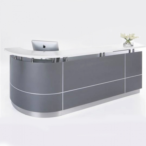 Roxy Reception Desk, Right Hand Curved Return