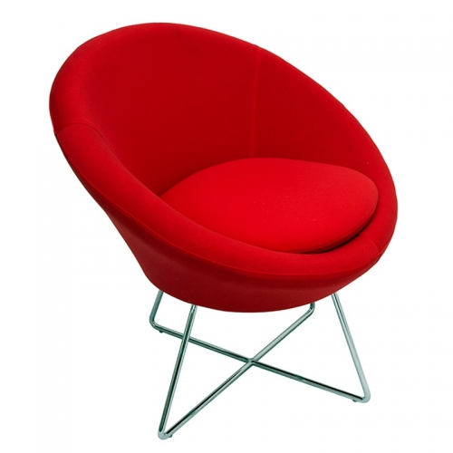 Sinclair Chair, Red Fabric