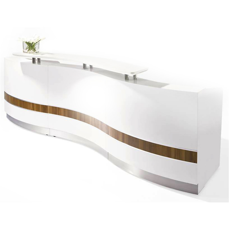 Sleek Reception Counter Desk Ikcon