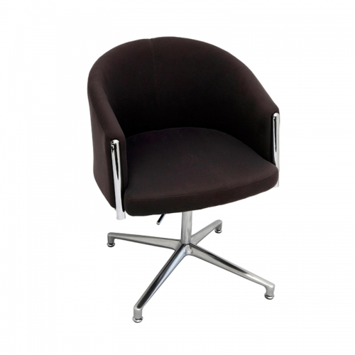 India Chair, Charcoal Fabric