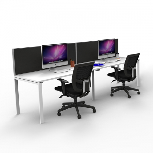 Effect Profile 2 Desk System Inline with Screen Divider