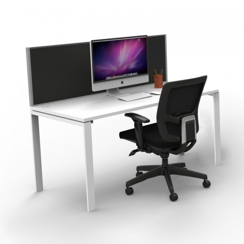 Effect Profile Desk System with Screen Divider