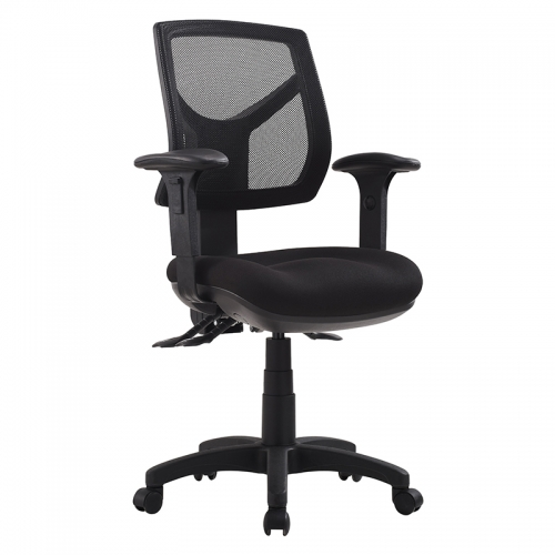 Milano Mesh Medium Back Chair with Arms