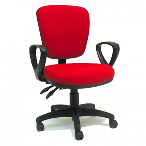 Biella Medium Back Chair with Fixed Loop Arms