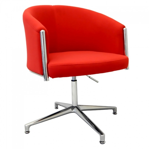 India Chair, Red Fabric