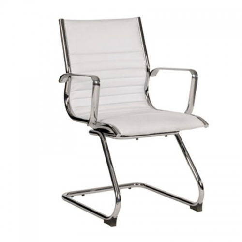 Kelsy Visitor Chair, White