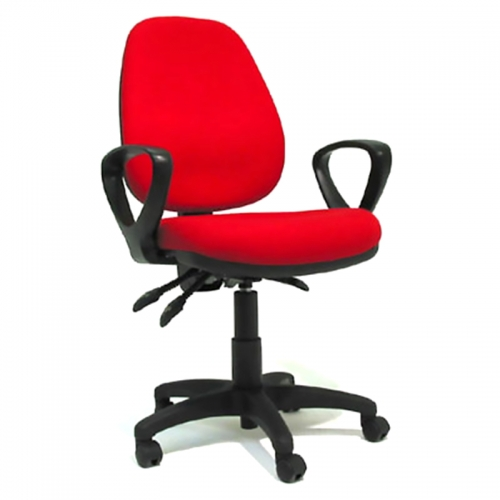 Lucca High Back Chair with Fixed Loop Arms