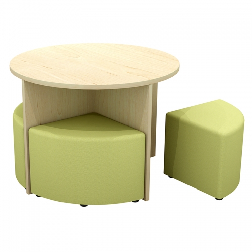 Quattro Table and Ottoman Set