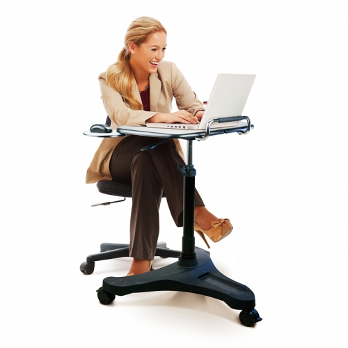 Elev8 Personal Height Adjustable Desk, Seated Position