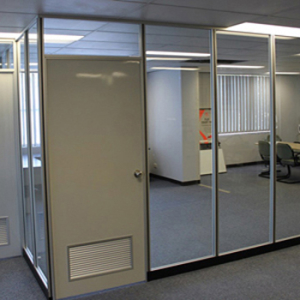 Full height glass partitions