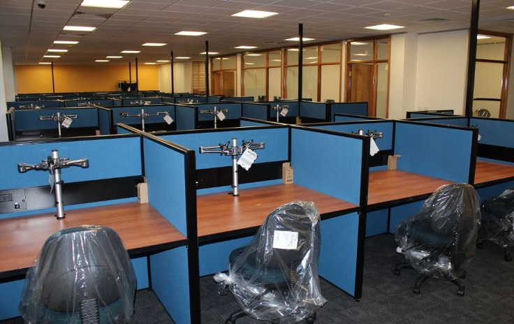 Insurance office furniture work