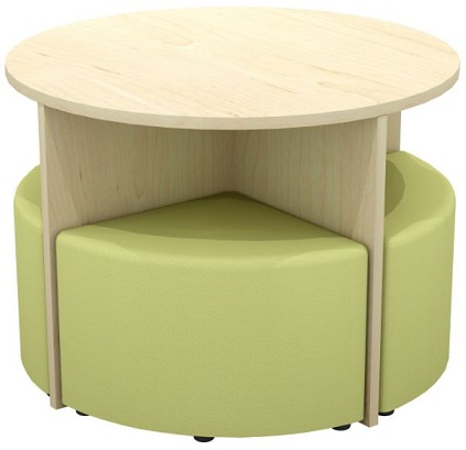 Quattro Table and Ottoman Set