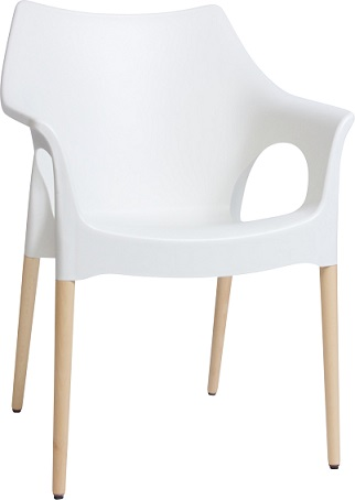 Mila Indoor Chair with Beech Timber Legs